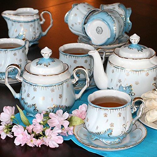 Verbilki Porcelain Tea Set Opal 15 pc for 6 persons