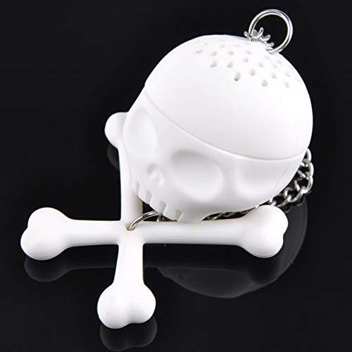 Detectorcatty Human Skull Shape Tea Strainer Silicone Interesting Tea Infuser Filter Teapot For Tea Coffee Drinkware