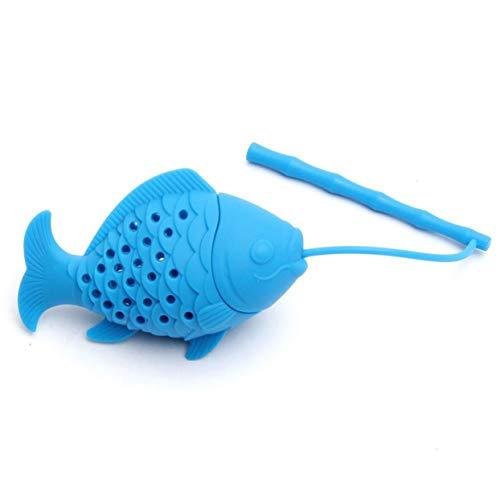 Detectorcatty Kawaii Cute Fish Shape Tea Strainer Silicone Interesting Tea Infuser Filter Teapot For Tea Coffee Drinkware