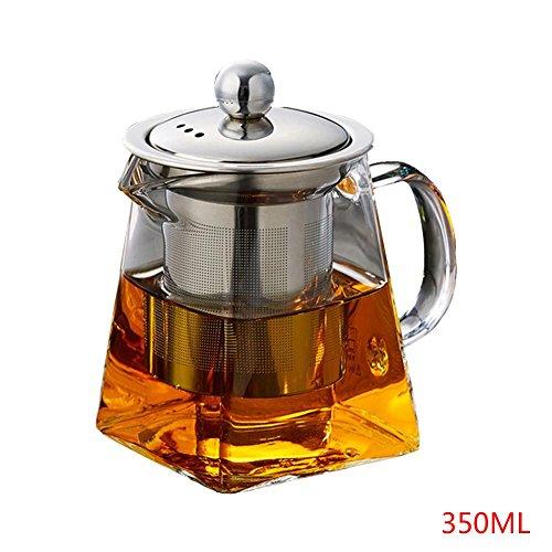 Glass Tea Set New Square Borosilicate Heat-resistant Filter Teapot 350ml550ml750ml