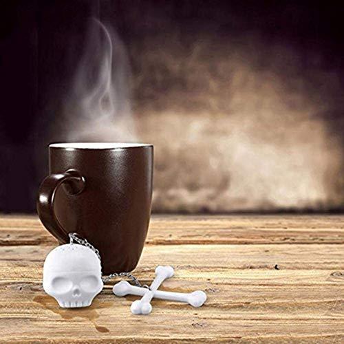 Human Skull Shape Tea Strainer Silicone Interesting Tea Infuser Filter Teapot For Tea Coffee Drinkware