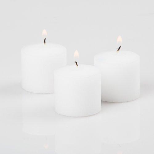 RichlandVotive Candles White Unscented 10 Hour Burn Set of 144