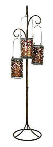 Deco 79 Artistically Designed Metal Floor Candle Lantern