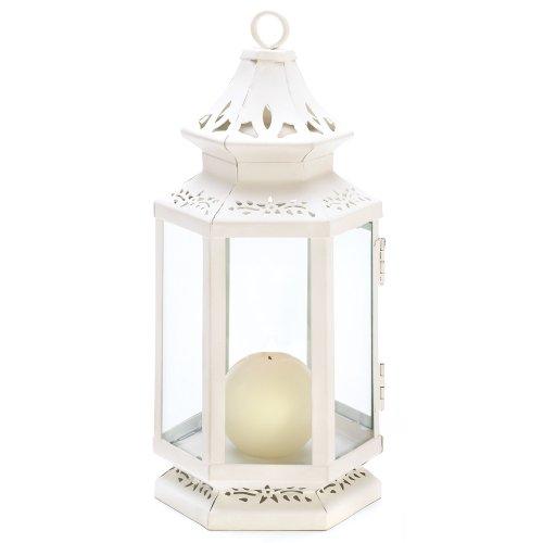 Gifts Decor Medium Size Victorian White Candle Lantern Candleholder