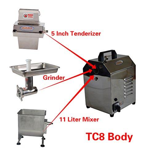 Hakka Multi-functional Commercial Meat Processing Machines with Stainless Steel Meat GrindersTenderizersMixers