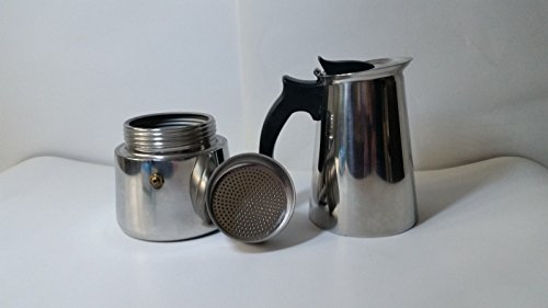 Tea Press 6 Cup Stove Top Espresso Maker Moka Coffee Maker Latte Stainless Steel Pot Tea Strainer