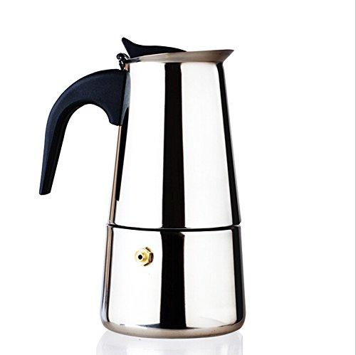 Youbedo 200ml Stovetop Espresso Moka Pot Stainless Steel Coffee Maker