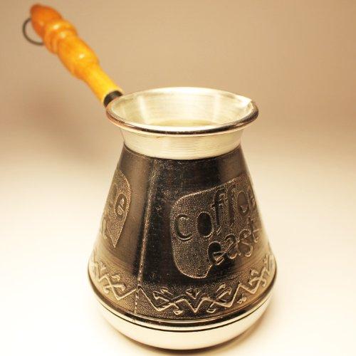 Turkish Greek Coffee Pot Coffee East Volume 118 Oz - 350 ML Ibrik Briki Cezve Turka