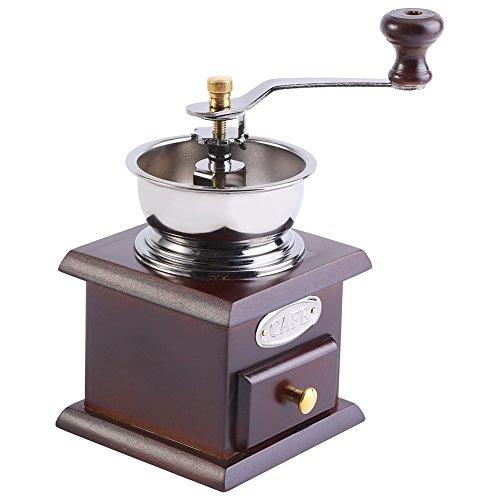 Pomya Vintage Manual Coffee Grinder Retro Design Coffee Bean Hand Grinder Mill Manual Grinding Tool for Home Kitchen Officecoffee