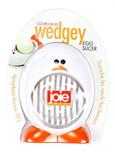 MSC International 50644 Joie Wedgey Egg Mushroom Slicer Stainless Steel Blades BPA free FDA approved White