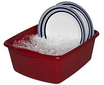 Sterilite 06575812 12-Quart Dish Pan Red Pack of 12