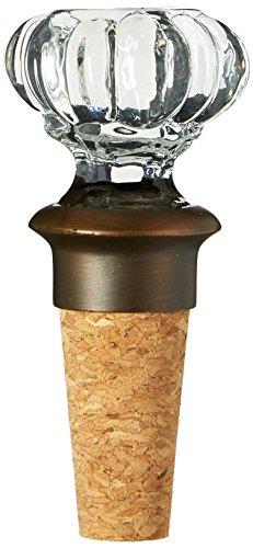 Mud Pie Door Knob Bottle Lines Topper Accessories Brown