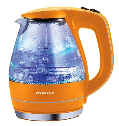 Ovente KG83 Series 15L Glass Electric Kettle Orange