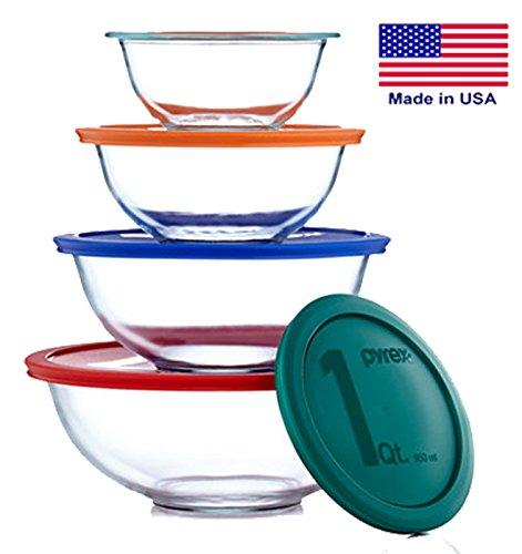 Pyrex Smart Essentials 8 Piece Mixing Bowl Set