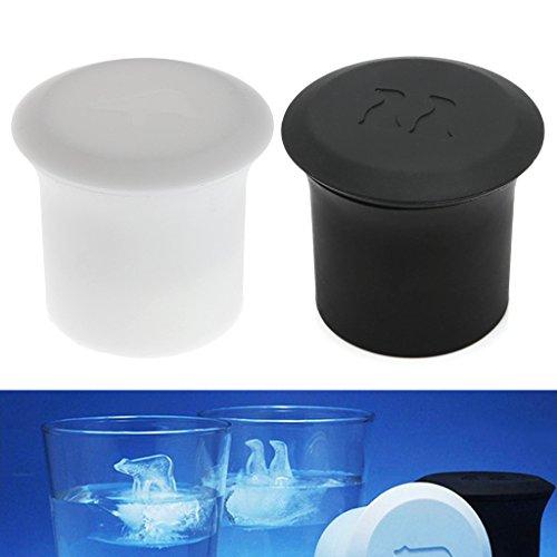 Kangnice 2Pcs Polar Bear Penguin Silicone Jelly Choc Ice Cube Mold Maker Mould