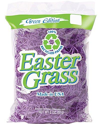 RJ Rabbit Paper Easter Basket Filler Grass 2 oz Recycled Lavender 1246