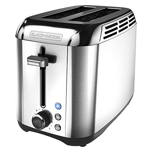 BLACKDECKER 2-Slice Toaster Rapid Toast Stainless Steel TR3500SD