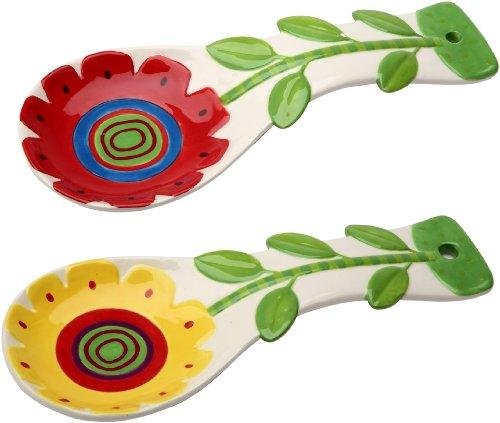 Appletree 9-14-Inch Ceramic Spoon rest Set of 2