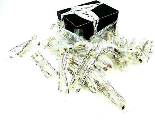 Dryden Palmer White Rock Candy Barista Sticks 45 Inch Demitasse Sticks in a BlackTie Box Pack of 28