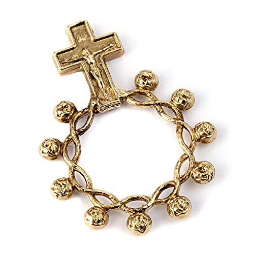 Basque Ring Rosary Prayer Ring in Gilded 925 Silver