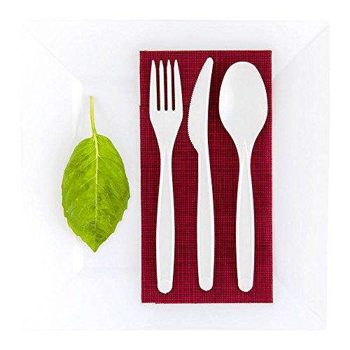 Compostable Plastic Spoon Disposable White Plastic Spoon - 65 - Durable - PLA - 250ct Box - Restaurantware