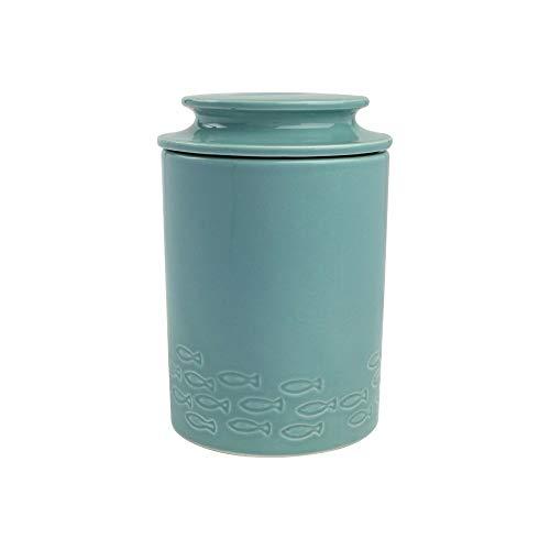 T&G Woodware Ocean Ceramic Crab Store Storage Jar Tea Coffee Sugar Canister Pasta Pot