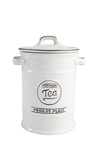 T&G Woodware Pride of Place British Tea Jar White