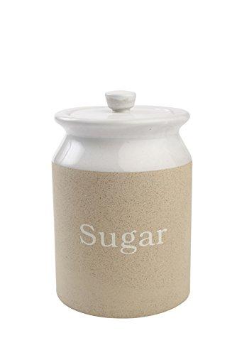 T&G Woodware Stone Design Stoneware Sugar Storage Jar
