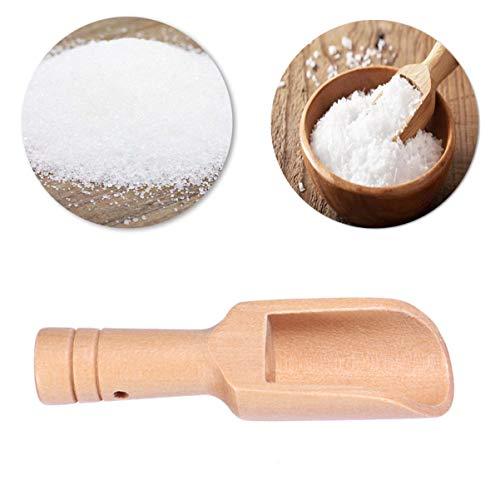 Hemoton 3pcs Ecofriendly Nontoxic Natural Bath Salt Spoon Candy Spoon Scoops Kitchen Cutlery Tableware Supplies