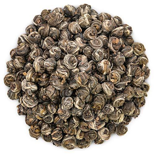 Oriarm 100g  353oz Dragon Pearls Jasmine Green Tea Loose Leaf - Chinese Jasmine Pearl Green Tea Leaves - 1st Grade - Brew Hot or Iced Tea