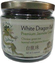 Premium Dragon Pearl Jasmine Green Tea- Loose Leaf 5 oz