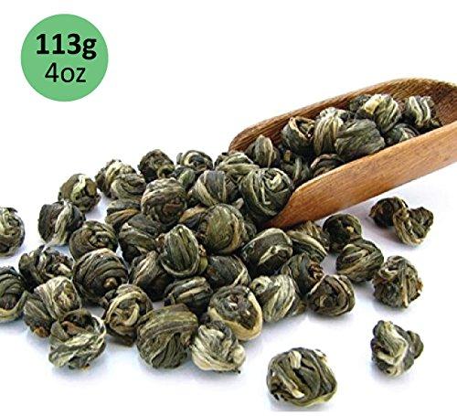 Tealyra - Imperial Jasmine Dragon Pearls - Loose Leaf Green Tea - Jasmine Green Tea with Pleasant Aroma and Tonic Effect - 113g 4-ounce