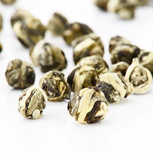 Yimi Jasmine Dragon Pearls Green Tea - 100 Organic Dried Jasmine Flower Loose Leaf Green Tea Chinese Herbal TeaPleasant Aroma78 Oz Holiday Gift