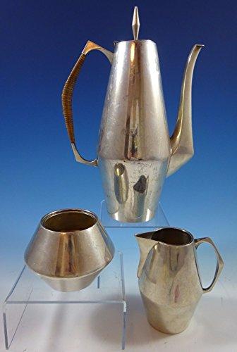 Diamond by Reed Barton Sterling Silver Tea Set 3pc Coffee Creamer Sugar 1154