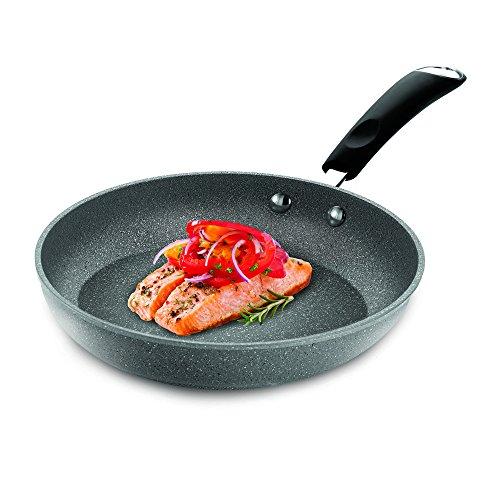 Bialetti Granito Nonstick Saute Pan, 12-inch, Gray