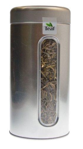 CHINA PAI MU TAN STD 6900 - green tea - in a Silver Caddy - Ø 76 mm height 153 mm 100g