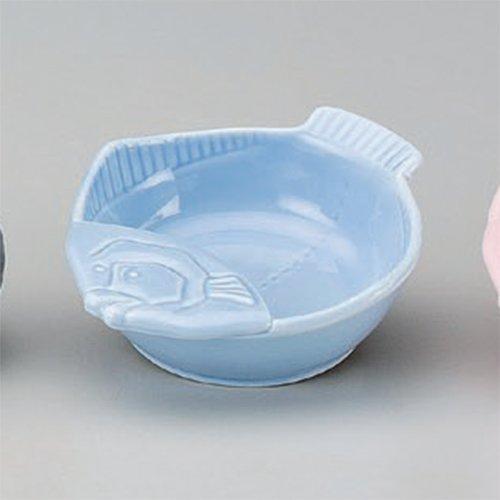 Cruet utw345-49-714 52 x 44 x 14 inch Japanece ceramic Blue fish type ladle stand tableware