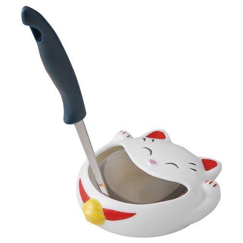 Matsumoto-Toki Pottery Welcoming Cat Ladle Stand S12-233
