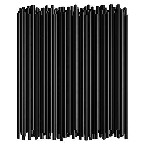775 Inch Straight Drinking Straws 250 Straws 775 Inch x 021 Inch Black