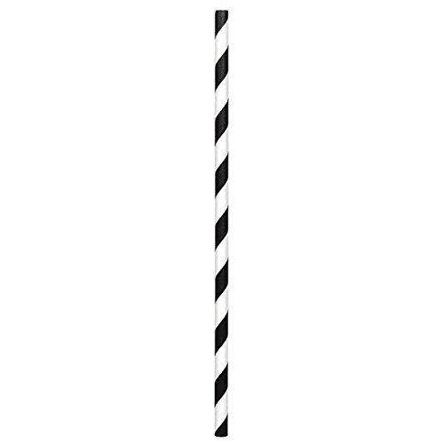 Black Paper Straws  24 Ct