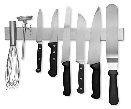 Modern Innovations 16 Inch Stainless Steel Magnetic Knife Bar with Multipurpose Use as Knife Holder Knife Rack Knife Strip Kitchen Utensil Holder Tool Holder Art Supply Organizer Home Organizer