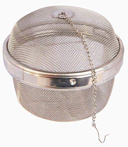 Eco-besttm 188 Stainless Steel Mesh Tea Ball Infusermesh Tea Strainer Herb Infuser Giant Size 5 14 Inch