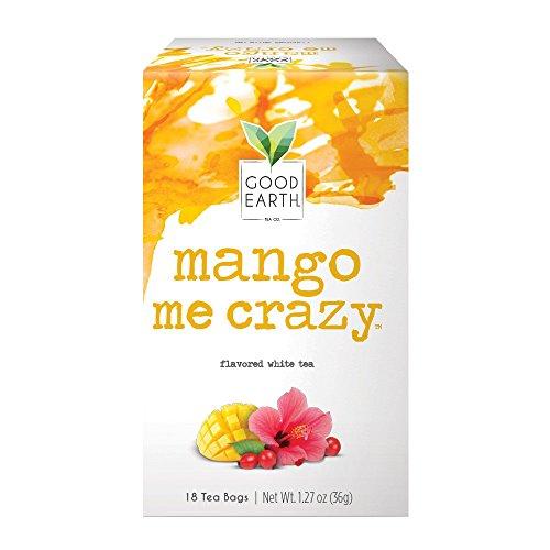 Good Earth White Tea Mango Me Crazy 18 Count Tea Bags Pack of 6