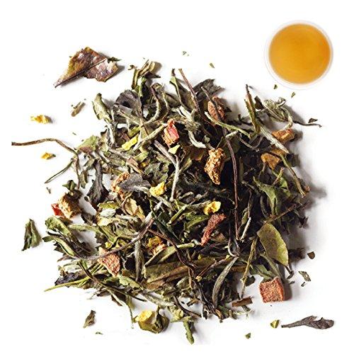 Rishi Peach Blossom Tea Organic Loose Leaf White Tea Blend 1 lb Bag