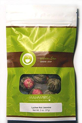 Mahamosa Blooming Display Green Tea Loose Leaf Looseleaf- Lychee Nut Jasmine 2 oz Flowering Tea