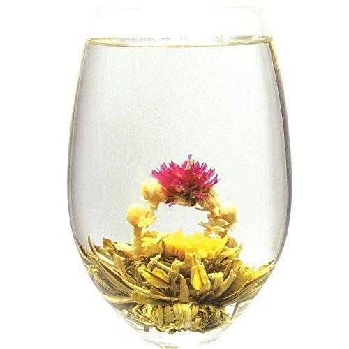 Two Dragon Play Pearl Blooming Flowering Tea - 12pcs-36 Steeps-Makes 250 Cups Blooming Tea-Flowering Green Tea Ball-Blooming Tea Balls-Blooming Flowers Tea- Flower Tea