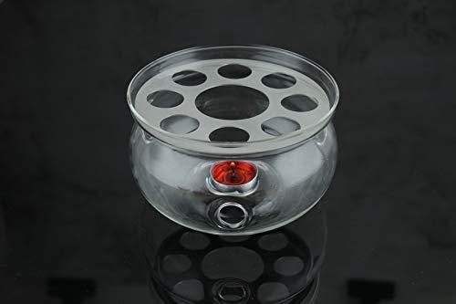 CnGlass Glass Teaport Warmer 135 cm diameter-Flowering Tea Gift Set