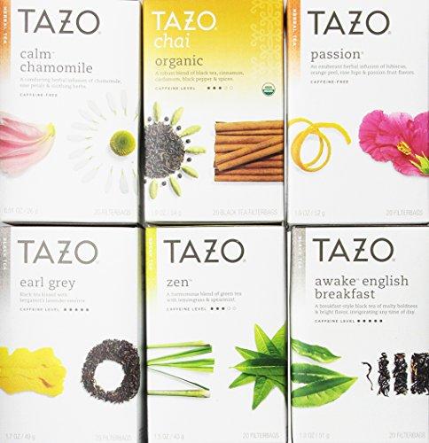 Tazo Assorted Tea Sampler 20ct Pack of 6