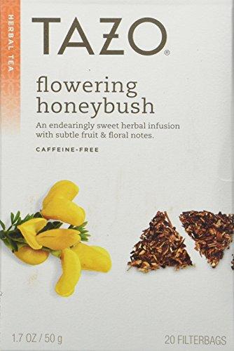 Tazo Honeybush Herbal Infusion Tea Caffeine Free 20-Count Tea Bags Pack of 6