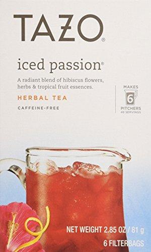Tazo Iced Tea Passion 6 Bags 285 oz Case of 4